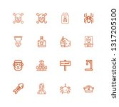 editable 16 death icons for web ... | Shutterstock .eps vector #1317205100