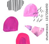 artistic abstract collage set... | Shutterstock . vector #1317206450