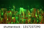 vector abstract 3d crystal. a... | Shutterstock .eps vector #1317237290