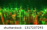 vector abstract 3d crystal. a... | Shutterstock .eps vector #1317237293