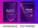 music poster. dynamic gradient... | Shutterstock .eps vector #1317246566