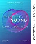 music poster. dynamic gradient... | Shutterstock .eps vector #1317246590