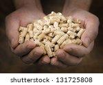 alternative fuel  pellets made...   Shutterstock . vector #131725808
