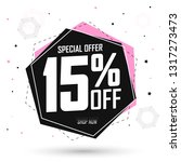 sale 15  off  special offer ... | Shutterstock .eps vector #1317273473