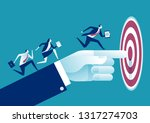businessman s hand pointing to... | Shutterstock .eps vector #1317274703