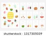 calendar 2020. cute monthly... | Shutterstock .eps vector #1317305039