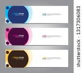 vector abstract web banner... | Shutterstock .eps vector #1317306083