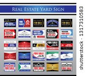 big collection real estate yard ... | Shutterstock .eps vector #1317310583
