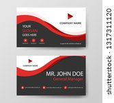 red corporate business card ... | Shutterstock .eps vector #1317311120