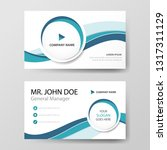 blue circle corporate business...   Shutterstock .eps vector #1317311129