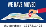 we have moved  changed address... | Shutterstock .eps vector #1317311426