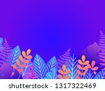 floral background with copy...   Shutterstock .eps vector #1317322469