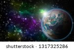 the earth and galaxy with copy... | Shutterstock . vector #1317325286