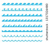 blue wave sea seamless pattern  ...   Shutterstock .eps vector #1317326480
