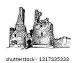 graphical sketch of... | Shutterstock .eps vector #1317335333