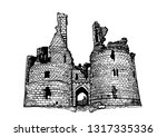 graphical sketch of... | Shutterstock .eps vector #1317335336