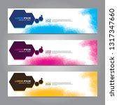 vector abstract web banner... | Shutterstock .eps vector #1317347660