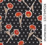 seamless pattern carnation... | Shutterstock .eps vector #1317349226
