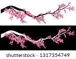 plum tree blossom vector design ... | Shutterstock .eps vector #1317354749