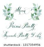laurel branch with hand written ... | Shutterstock . vector #1317354956