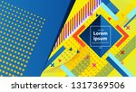 colorful geometric background... | Shutterstock .eps vector #1317369506