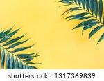 summer composition. tropical... | Shutterstock . vector #1317369839