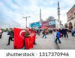 spice market  istanbul  turkey  ... | Shutterstock . vector #1317370946