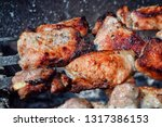 tasty piece of grilled meat... | Shutterstock . vector #1317386153
