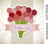happy mothers day card with... | Shutterstock .eps vector #131739428