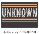 unknown slogan typography vector   Shutterstock .eps vector #1317400700