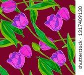 spring floral seamless pattern... | Shutterstock . vector #1317409130
