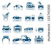 automotive icon set | Shutterstock .eps vector #131741000