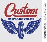 vector template on motorcycle... | Shutterstock .eps vector #1317417863