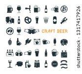 dark craft beer pixel perfect... | Shutterstock .eps vector #1317417926