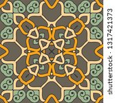colorful pattern with mandala.... | Shutterstock .eps vector #1317421373