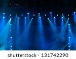 Blue Stage Lights  Light Show...