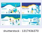 isometric programmer working in ... | Shutterstock .eps vector #1317436370