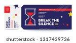 break the silence invite ticket ...   Shutterstock .eps vector #1317439736