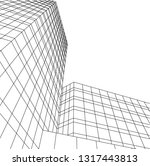 architectural drawing 3d | Shutterstock .eps vector #1317443813
