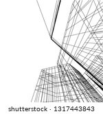 architectural drawing 3d | Shutterstock .eps vector #1317443843