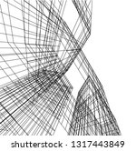 architectural drawing 3d | Shutterstock .eps vector #1317443849