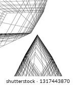 architectural drawing 3d | Shutterstock .eps vector #1317443870