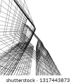 architectural drawing 3d | Shutterstock .eps vector #1317443873