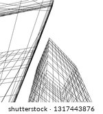 architectural drawing 3d | Shutterstock .eps vector #1317443876