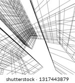 architectural drawing 3d | Shutterstock .eps vector #1317443879