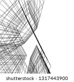architectural drawing 3d | Shutterstock .eps vector #1317443900