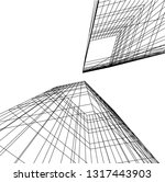 architectural drawing 3d | Shutterstock .eps vector #1317443903