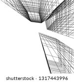 architectural drawing 3d | Shutterstock .eps vector #1317443996