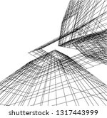 architectural drawing 3d | Shutterstock .eps vector #1317443999