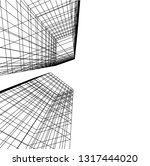architectural drawing 3d | Shutterstock .eps vector #1317444020